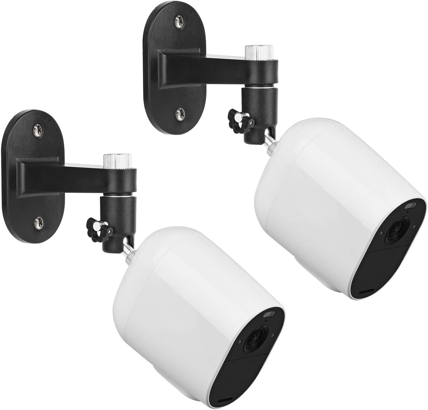 2Pack Security Wall Mount for Arlo Pro, Arlo Pro 2, Arlo Ultra, Arlo Pro 3, Arlo Go, Arlo Essential Spotlight Camera, Adjustable Indoor/Outdoor Mounting Bracket for Your Surveillance Camera (Black)