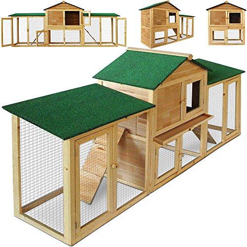 SSITG Clapier pour lapin, lapin, cage à lapin, clapier pour petits animaux - Enclos XXL