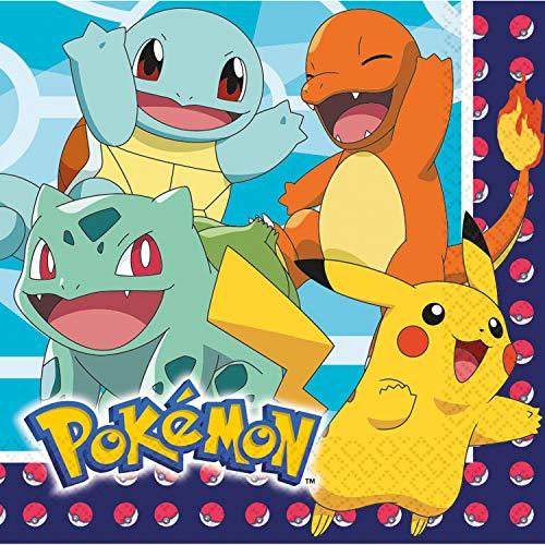16 Servietten * Pokemon * für Kindergeburtstag und Mottoparty   Papierservietten Napkins Einweg