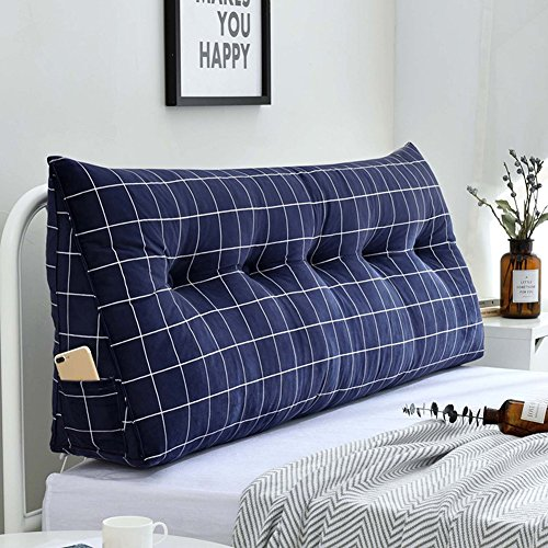 Dongy Sofa Bett große dreieckige Keil Kissen/Schlafzimmer Doppelbett Rückenlehne Kissen/Sofa zurück weiche Tasche/Lesen Rückenlehne Kopfteil Kissen mit abnehmbaren Bezug, 8 Farben, 8 Größen