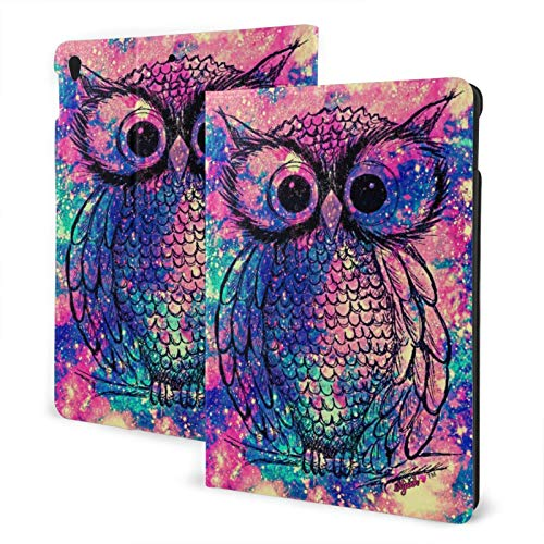 Vintage Owl Galaxy Ipad Air3 10.5' Generation Case Case Slim Stand Hard Back Shell Protective Smart Cover Case PU Leather Multi-Angle Folio