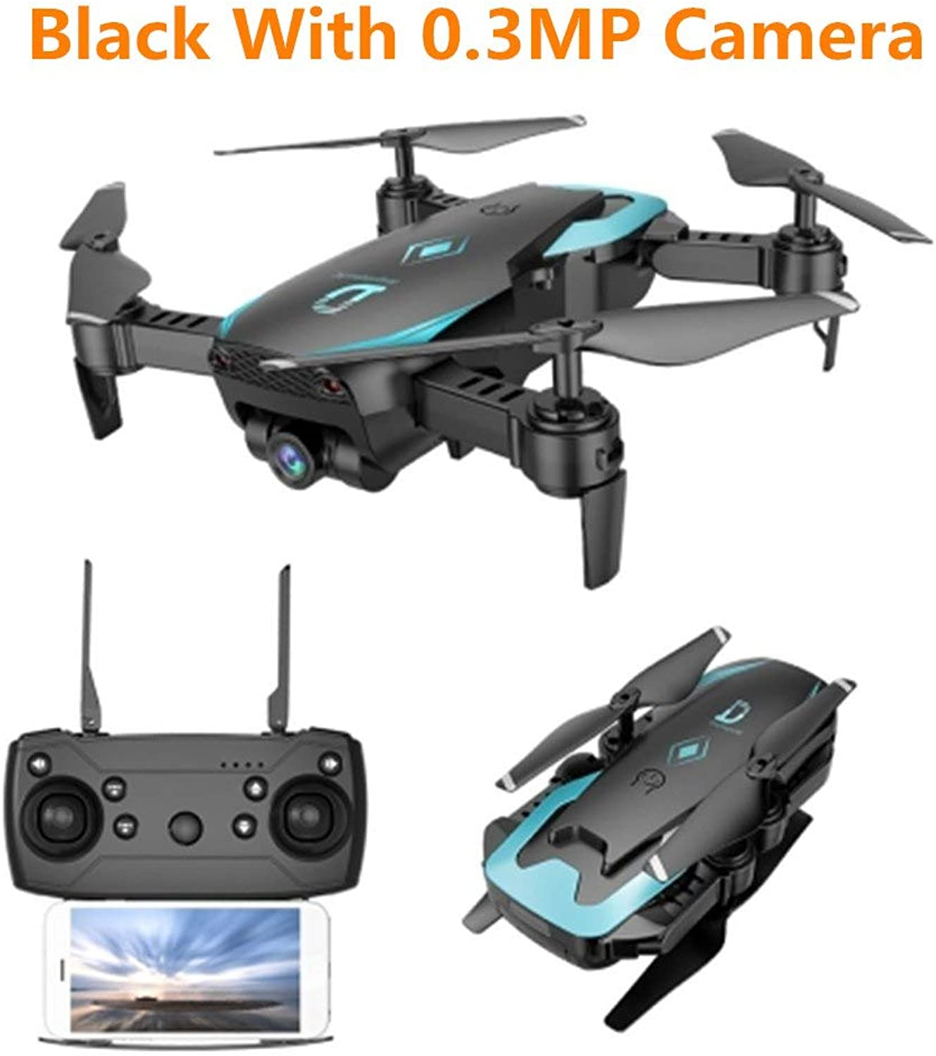 Generic Rc Helicopter X12 Drone Quadcopter with Camera WiFi FPV 2.4G One Key Return Helicopter with HD Camera Toys VS E58 Dron Black