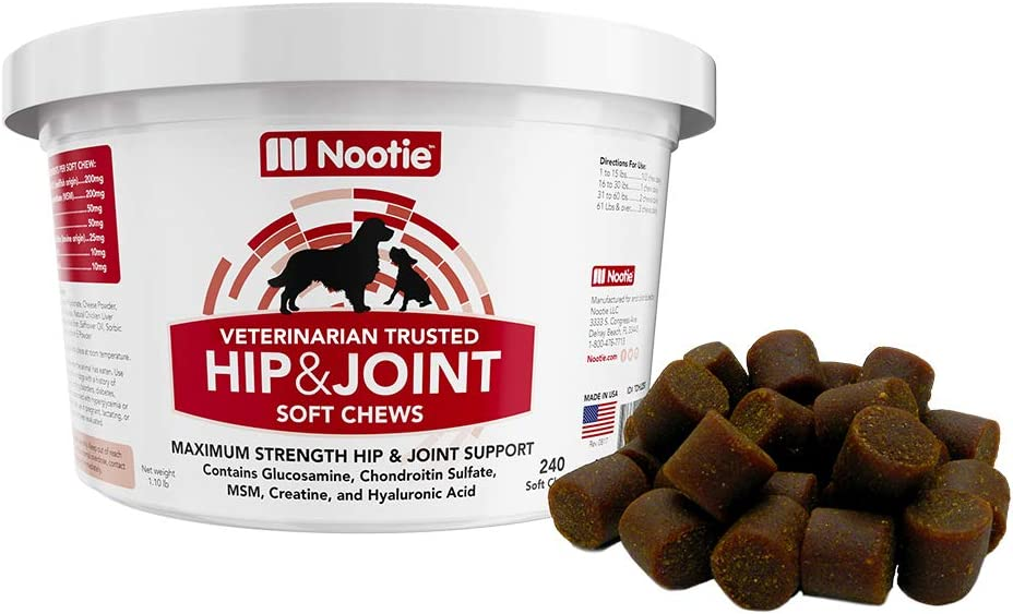 Nootie Maximum Strength Hip Joint Tulsa Mall Chews Dogs Mail order for Soft