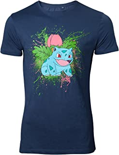 Pokemon ivysaur T-shirt bleu marine
