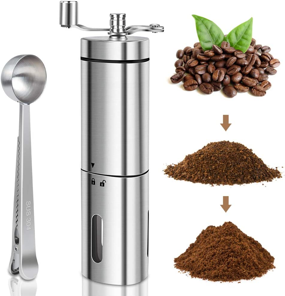 Sale Manual Coffee Grinder with Adjustable Max 64% OFF Conical Setting Bur KUOAS