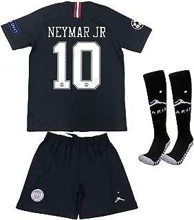 Speed Johng Paris Saint Germain X Away Neymar JR 10# 2018/2019 Kids/Youths Soccer Jersey Shorts Socks (6-13old)