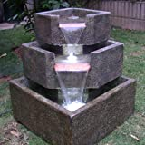 Smart Living Cascadia Falls Electric Corner Fountain Designed to Be...