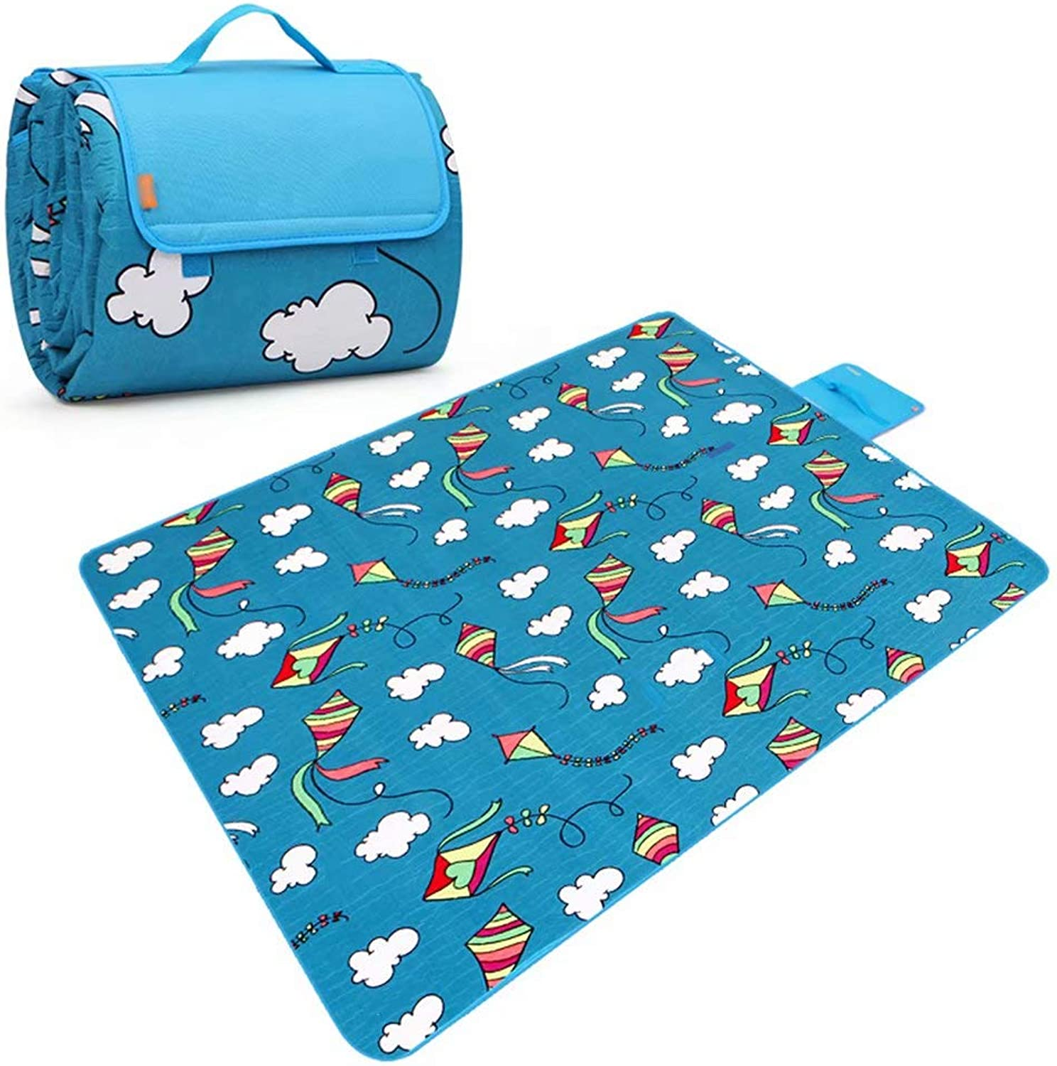 Picnic Blanket Waterproof Backing Outdoor Beach Picnic Rug Mat with Handle