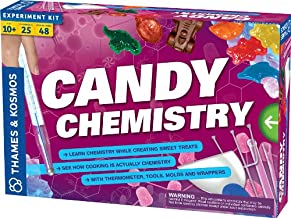 Thames & Kosmos Candy Chemistry | Science Kit | Rock Candy, Chocolates, Gummy Bears, Wintergreen Candies | 48 Page Full-Co...