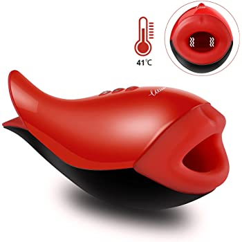 Utimi Male Masturbators Cup Rechargeable 10-Mode Masturbation Sex Toys with Powerful Vibration and Heating Function for Intense Stimulation
