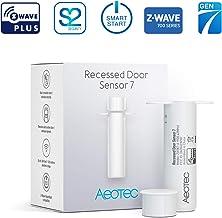Aeotec Recessed Door Sensor 7, Z-Wave Plus, Invisible Security Door Sensor, Smart, Battery Powered, SmartStart & S2, Z-Wave hub Required