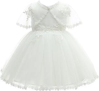 a61cc5195f8f7 AHAHA Robes de Baptême pour Filles de Bébé Princesse Robes de Mariée Robe  de Fête d