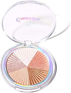 Allbestaye 3 Colors Baked Highlighter Palette Makeup