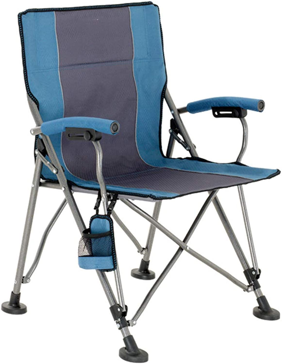 Outdoor Portable Folding Chair, Armrest Folding Computer Chair, with Cup Holder Beach Chair SelfDriving MultiFunction Portable Camping Chair