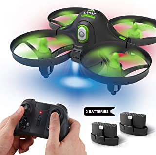 Dwi Dowellin Mini Drone Crash Proof for Kids Beginners Auto Hovering One Key Spin Flips Rolls RC Nano Quadcopter One Key Take Off Landing Drones Toys for Boys and Girls, Extra Battery