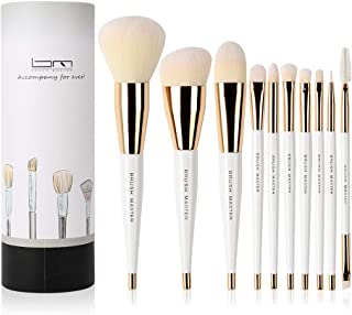 Brush Master Makeup Brush Set Premium Synthetic Foundation Powder Concealers Eye Shadow Makeup Brush Sets, 10 Pcs