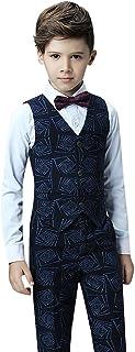 リングボーイ スーツ 子供 スーツ 西洋式 子供タキシード キッズ 男の子 フォーマル 紳士服 ベスト ズボン シャツ 三点セット 子供服 スーツ 結婚式 発表会 パーティー 演出