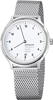 Mondaine Unisex MH1.R2210.SM Helvetica No1 Regular Analog Swiss Quartz Silver-Tone Stainless Steel Watch