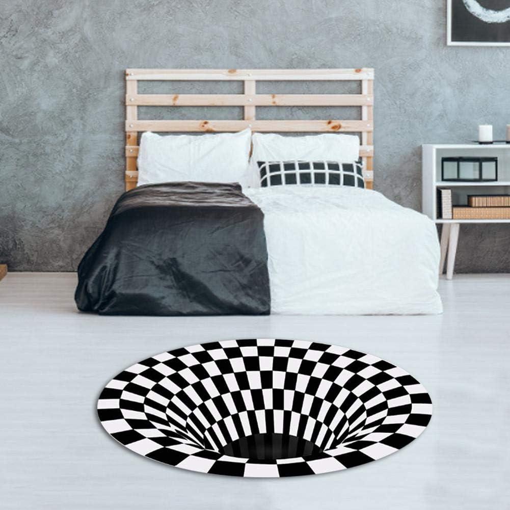 Round Carpet 3D Swirl Print Illusion Rug Ranking TOP16 Mandala Super special price Optical