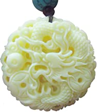 Ziyier G & E Chinese Feature / 12 Chinese Zodiac/Lucky God White Bone Carving Pendant