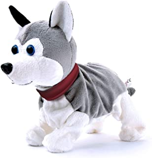 Plush Interactive Toys,Smalody Electronic Pet Sound and Touch Control Robot Dog,Toys Gift for Girls Boys Kids