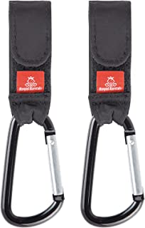 ROYAL RASCALS Buggy Clips for Pram x2 - Stroller Hooks to Carry Your Shopping Bags, Handbag, or Baby Change Bag on Your Pu...