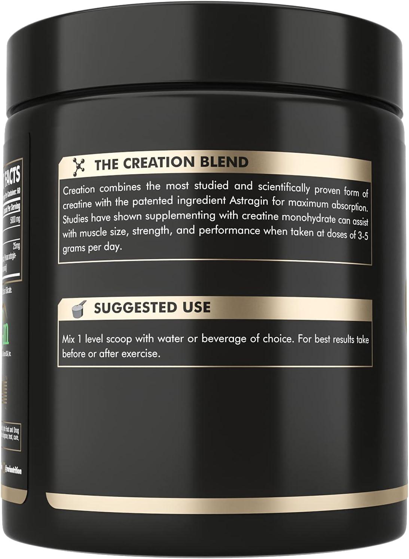 RARI Nutrition Creatine Monohydrate Powder   Unflavored, Superior Formula   25mg Astragin & 5000mg Pure Micronized Creatine Per Serving : Health & Household