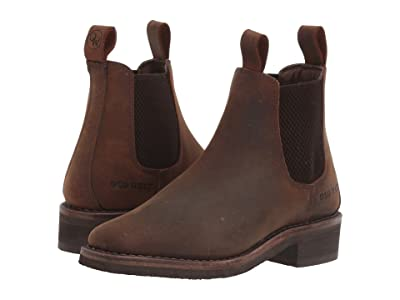 Old West Kids Boots Carson (Toddler/Little Kid) (Brown) Cowboy Boots
