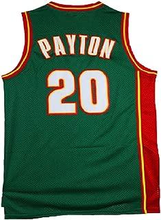Haeyev Men's Payton Retro Jersey Athletics Gary Jersey Basketball #20 Jersey Green(S-XXL)