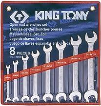 Jogo Chave Fixa com 08 Pecas Pol, Kingtony Br, 1108Sr