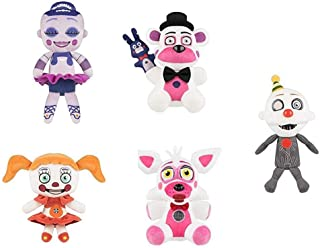 Set Of 5 Five Nights At Freddy's Sister Location Plush