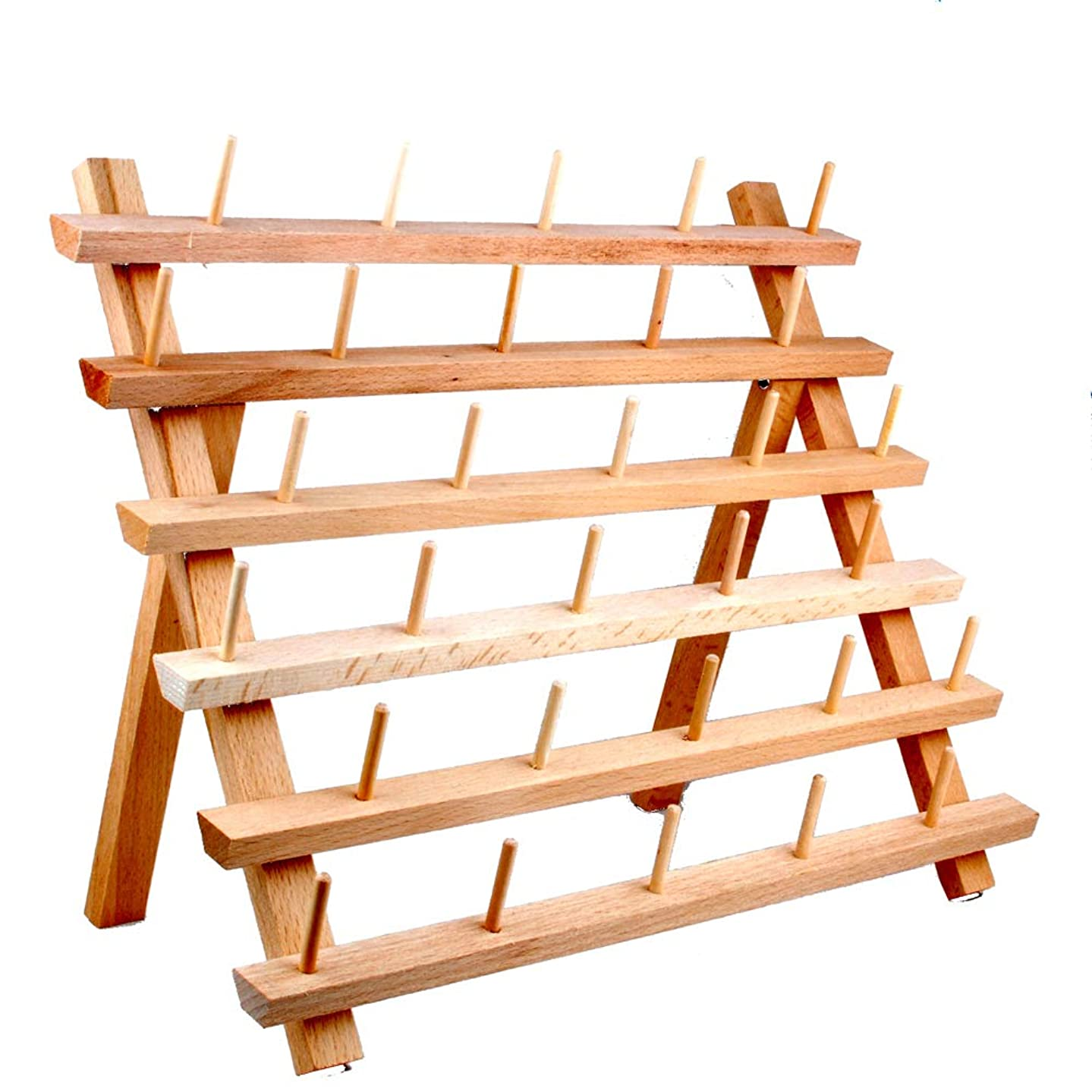 NW Wooden Thread Holder Sewing and Embroidery Thread Rack and Organizer Thread Rack for Sewing (30-Spool)