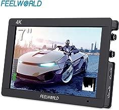 FEELWORLD FW703 7 Inch DSLR On Camera Field Monitor 3G SDI 4K HDMI Input Output Video Assist Peaking Focus IPS Full HD 1920x1200