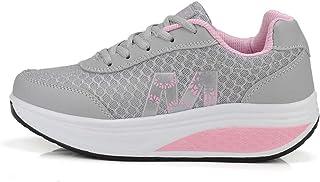2019 Zapato Deporte Mujer Con Plataforma Cuña Adelgazar Sneakers Zapatillas Atlético Correr Gimnasio Fitness Caminar Peso ...