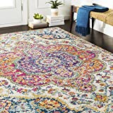 Artistic Weavers Romaine Pink and Saffron Updated Traditional 7'10' x 10'3' Area Rug, Orange