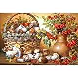 5D DIY Kit Pintura Diamantes Seta de fruta Cuadros Completo Cristal Diamond Painting Diamante Arte Diamante Bordado Punto De Cruz Arte Manualidades Home Sala Estar Pared Decoración 50x70cm A1612