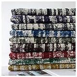 Gali DIY Hecho Mano Lino-como Tela 1200 Tejida de Poliéster-algodón Sofá Toalla de Lino-como Mantel Bolsa de Asas de Amortiguador de la Almohadilla Tela-145cm (Color : 8#)