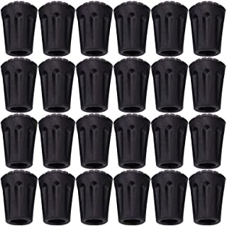 Tebery 24 Pack Rubber Trek Pole Tip Protectors-11mm Hiking Pole Replacement Tips Fits All Standard Hiking, Trekking, Walking Poles