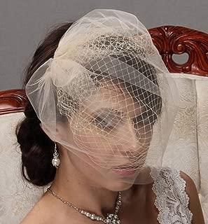black bandeau veil