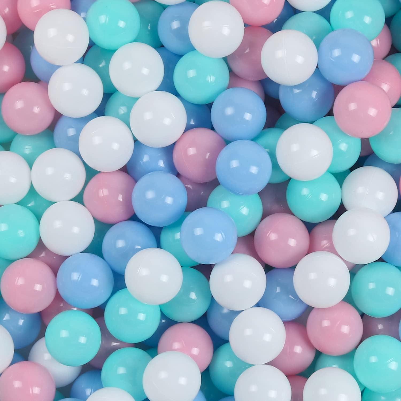 Ball Pit Balls 100 Spasm price 2.16 inch White Gray Macaron Nashville-Davidson Mall Colors Clear
