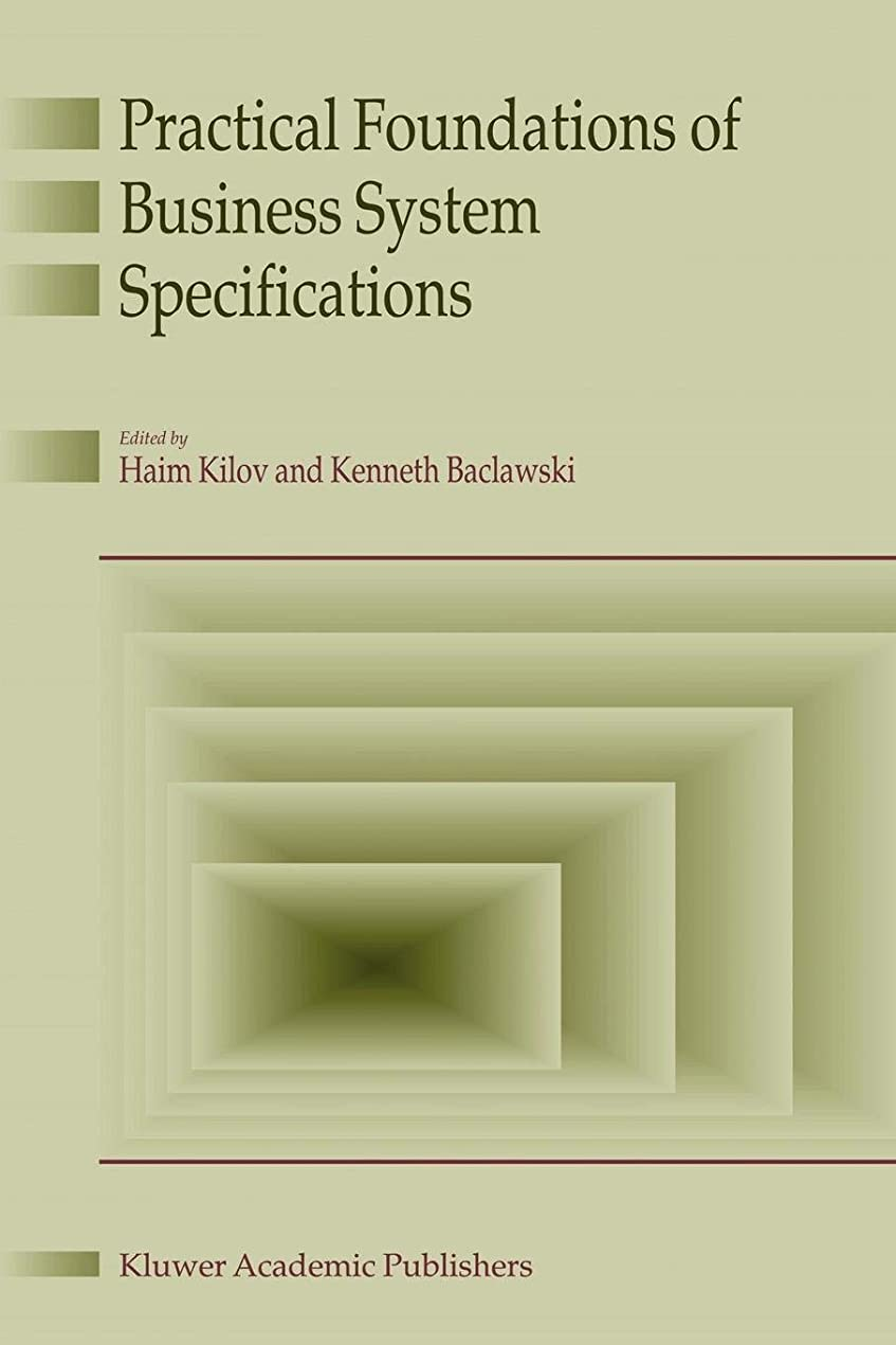 人質表現プランターPractical Foundations of Business System Specifications