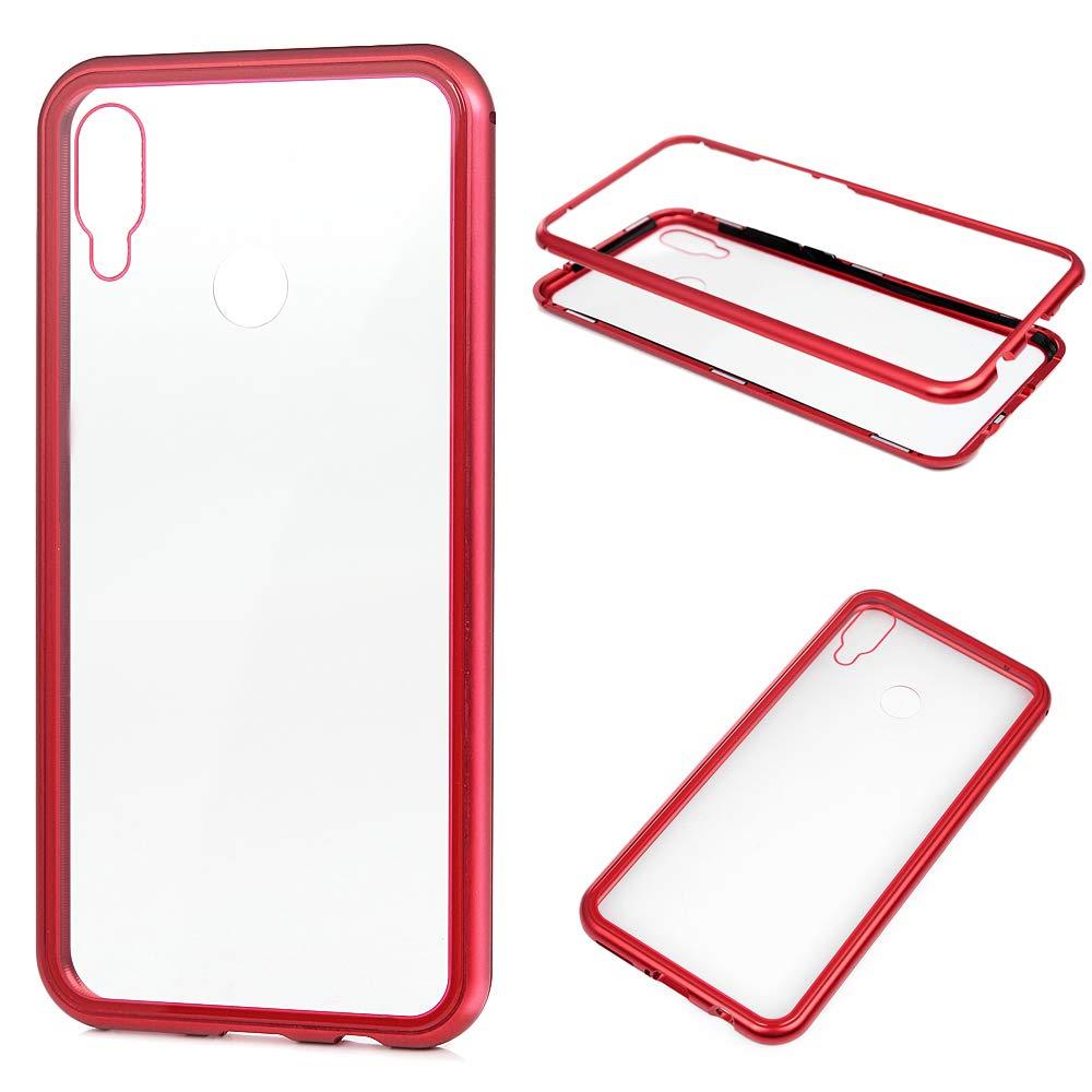 Funda Huawei P Smart Plus Trasparente, Carcasa Vidrio Templado Metal magnético Ultra fino Absorción magnética Cover Crystal Clear Case para Huawei P Smart Plus Rojo: Amazon.es: Bricolaje y herramientas