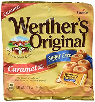 Werther s Caramel Sugar Free Hard Candy Original 2.75 Ounce  Pack of 4