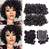 9A Peruvian Curly Human Hair Weave 8 Bundles Remy Human Hair...