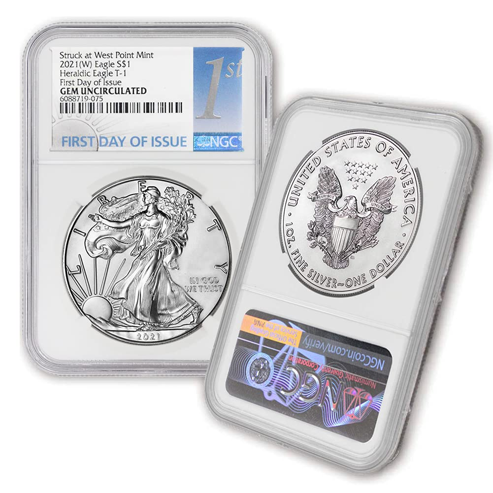 2021 W 1 SEAL limited product oz American Silver Translated Uncirculated Eagle E Heraldic Gem