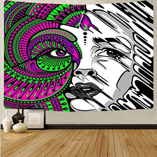 Psicodélico arte colgante tela decoración del hogar tapices dormitorio dormitorio decoración abstracto fondo tela