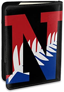 New Zealand Flag NZ Fashion Leather Passport Holder Cover Case Travel Wallet 6.5 In