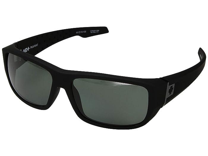 Spy Optic MC3 (Soft Matte Black/HD Plus Gray Green Polar) Athletic Performance Sport Sunglasses