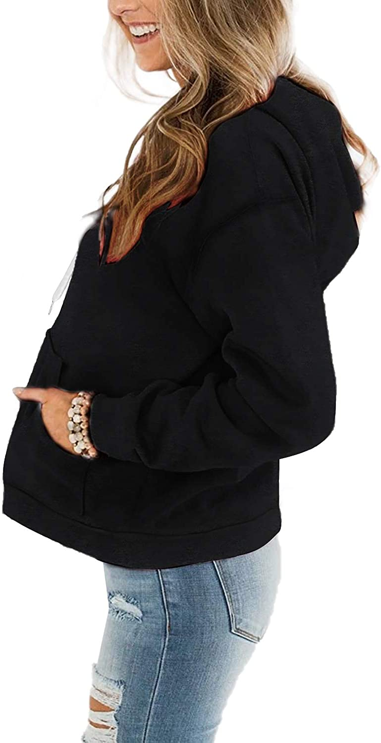 Davenil Womens Hoodies Comfy Fleece Long Sleeve Hooded Sweatshirt Pullover for Women Casual Tops with Pocket