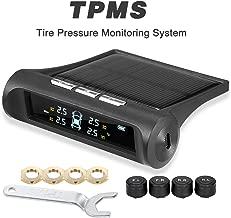 KKmoon Tire Pressure Monitoring System, TPMS Tire Pressure Monitoring System Universal Wireless with 4 External Sensors Real-time Display 4 Tires' Pressure & Temperature
